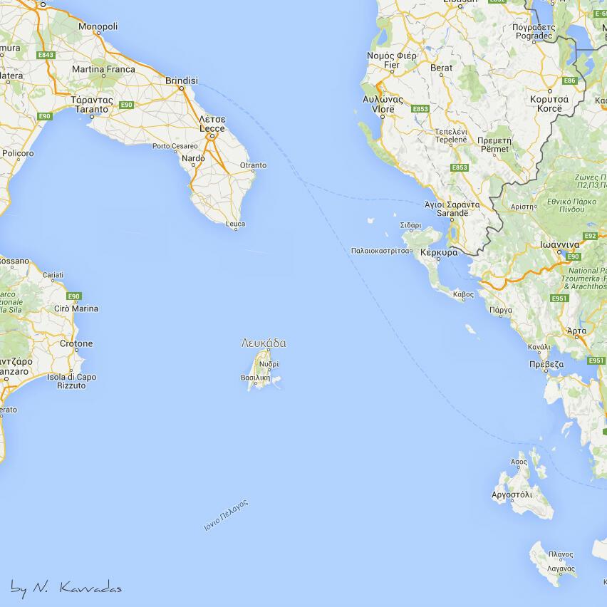 Η νέα θέση της Λευκάδας στον χάρτη